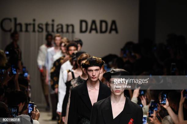 Models walk the runway during the Christian Dada Menswear Spring/Summer 2018 show as part of Paris Fashion Week on June 23 2017 in Paris France