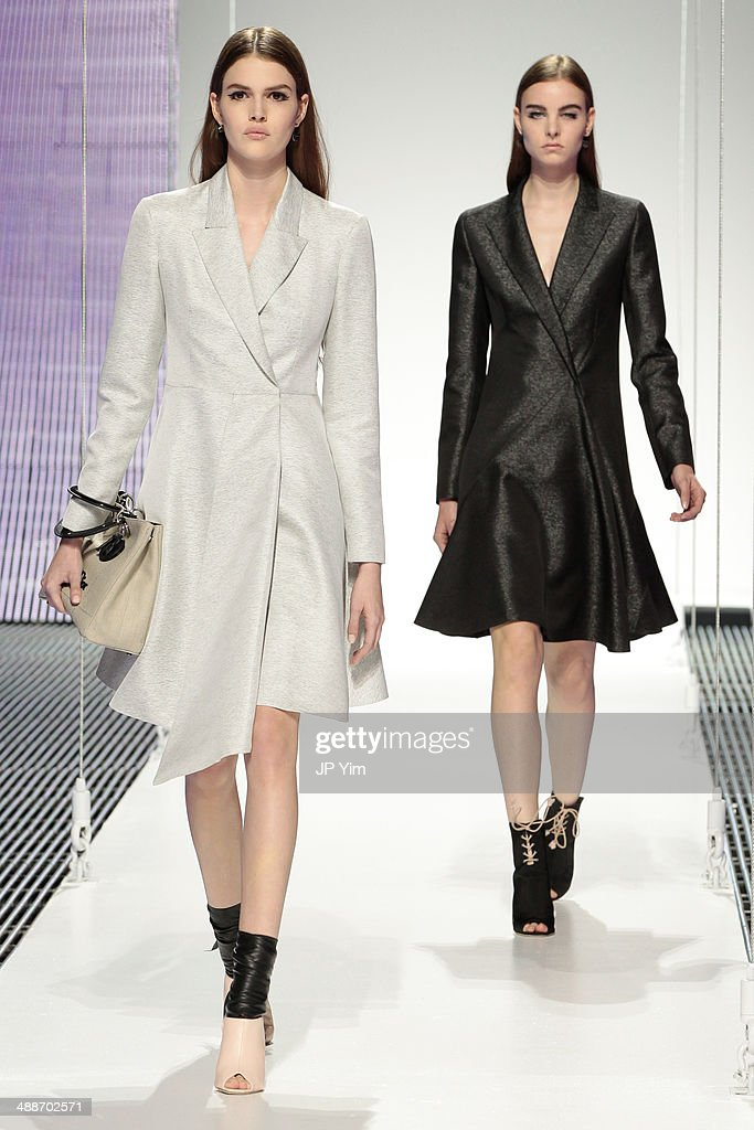 Models walk the runway during the Christian Dior Cruise 2015 show at Brooklyn Navy Yard on May 7, 2014 in the Brooklyn borough of Brooklyn City.