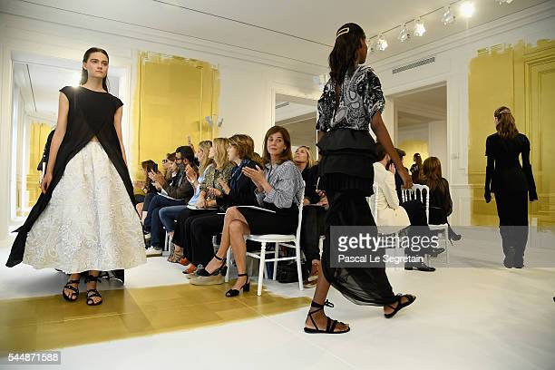 Models walk the runway during the Christian Dior Haute Couture Fall/Winter 20162017 show as part of Paris Fashion Week on July 4 2016 in Paris France