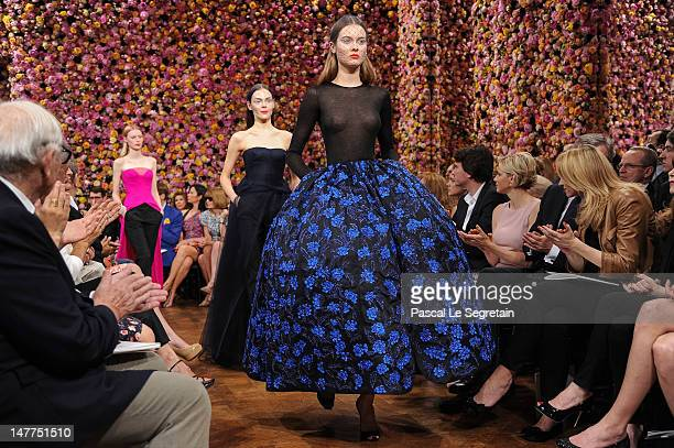 Models walk the runway during the Christian Dior HauteCouture show as part of Paris Fashion Week Fall / Winter 2013 on July 2 2012 in Paris France