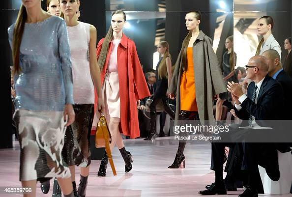 Models walk the runway during the Christian Dior show as part of the Paris Fashion Week Womenswear Fall/Winter 2015/2016 on March 6 2015 in Paris...