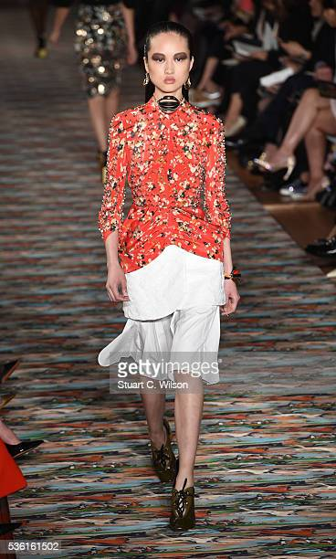 Models walk the runway during the Christian Dior Spring Summer 2017 Cruise collection at Blenheim Palace on May 31 2016 in Woodstock England