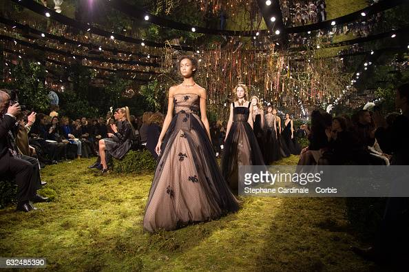 Models walk the runway during the Christian Dior Spring Summer 2017 show as part of Paris Fashion Week on January 23 2017 in Paris France