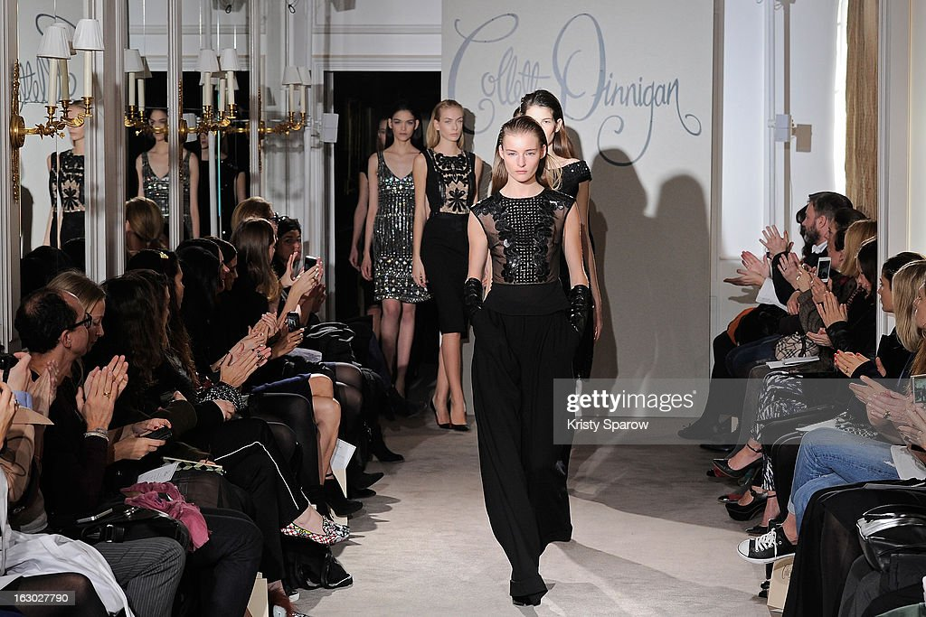 Models walk the runway during the Collette Dinnigan 2013/14 Ready-to-Wear show as part of Paris Fashion Week at Le Meurice on March 3, 2013 in Paris, France.