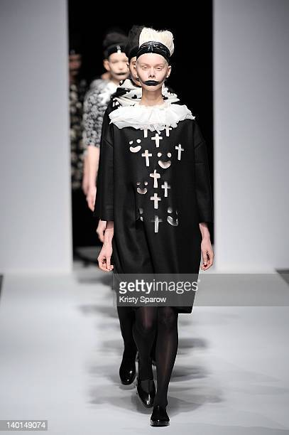 Models walk the runway during the Devastee ReadyToWear Fall/Winter 2012/13 show as part of Paris Fashion Week at Alexandre III Port des Champs...