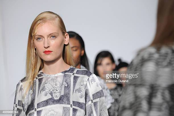 Models walk the runway during the Devastee show as part of the Paris Fashion Week Womenswear Spring/Summer 2015 on September 23 2014 in Paris France