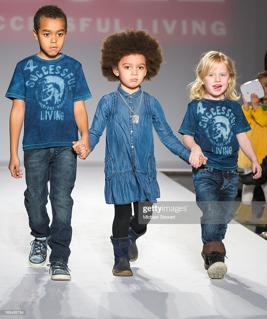 Models walk the runway during the Diesel Kids fashion show during 2013 petitePARADE Kids Fashion Week at Industria Superstudio on March 9, 2013 in New York City.