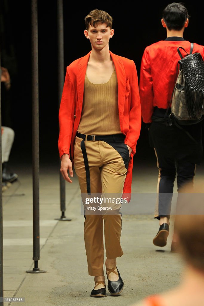 Models walk the runway during the Dries Van Notten show as part of Paris Fashion Week Menswear Spring/Summer 2015 on June 26, 2014 in Paris, France.