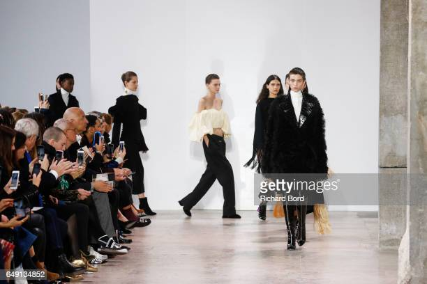 Models walk the runway during the Ellery show at Palais de Tokyo during Paris Fashion Week Womenswear Fall/Winter 2017/2018 on March 7 2017 in Paris...