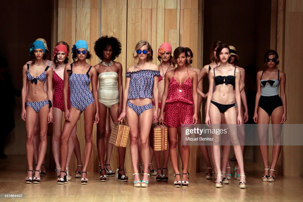 Models walk the runway during the Guillermina Baeza show as part of the 080 Barcelona Fashion Spring/Summer 2015on July 3, 2014 in Barcelona, Spain.