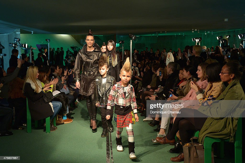 Models walk the runway during the Jean Paul Gaultier show as part of the Paris Fashion Week Womenswear Fall/Winter 2014-2015 on March 1, 2014 in Paris, France.