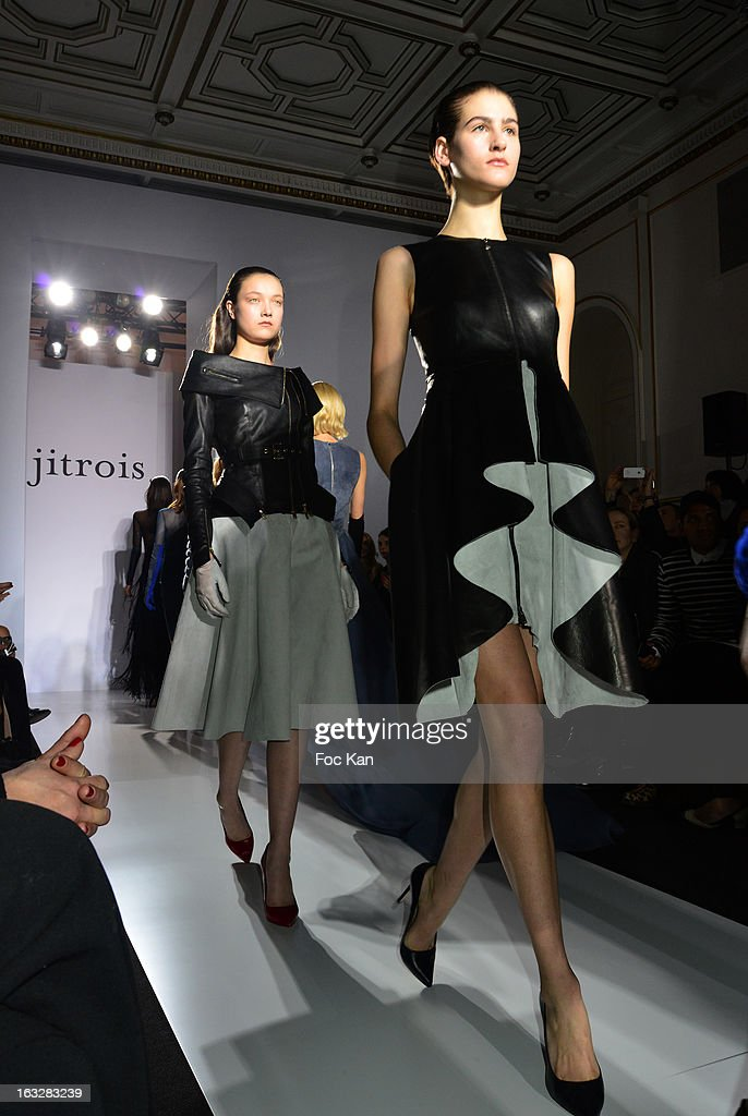Models walk the runway during the Jitrois Fall/Winter 2013 Ready-to-Wear show as part of Paris Fashion Week on March 6, 2013 in Paris, France.