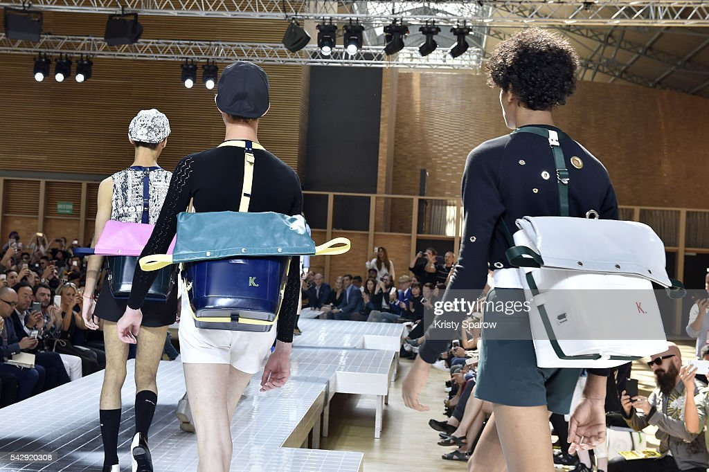 Models walk the runway during the Kenzo Menswear Spring/Summer 2017 show as part of Paris Fashion Week on June 25, 2016 in Paris, France.