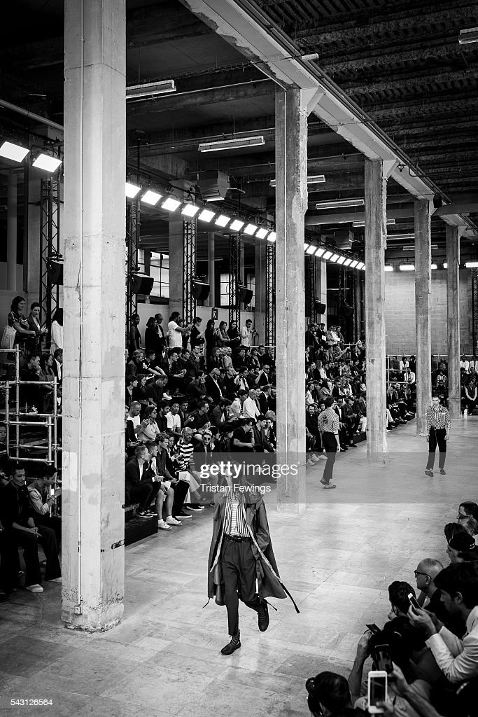 Models walk the runway during the Lanvin Menswear Spring/Summer 2017 show as part of Paris Fashion Week on June 26, 2016 in Paris, France.