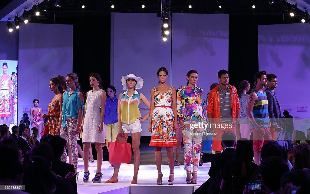 Models walk the runway during the Liverpool Fashion Fest Spring/Summer 2013 fashion show on February 26, 2013 in Mexico City, Mexico.