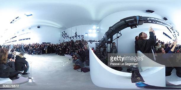 Models walk the runway during the Louis Vuitton Menswear Fall/Winter 20162017 show as part of Paris Fashion Week on January 20 2016 in Paris France