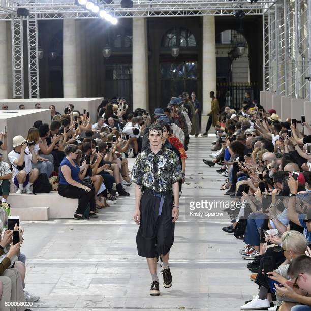 Models walk the runway during the Louis Vuitton Menswear Spring/Summer 2018 show as part of Paris Fashion Week on June 22 2017 in Paris France