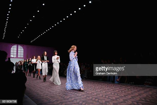 Models walk the runway during the MacGraw show at MercedesBenz Fashion Week Resort 17 Collections at Carriageworks on May 17 2016 in Sydney Australia