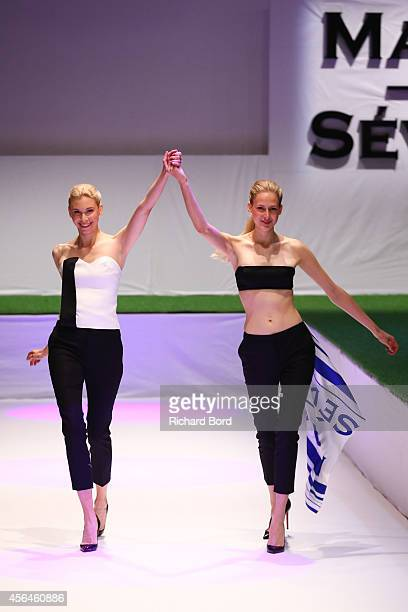 Models walk the runway during the Maison Sevigne show as part of the Paris Fashion Week Womenswear Spring/Summer 2015 at 'Carrousel du Louvre' on...