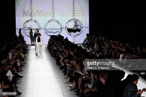 Models walk the runway during the Max Mara fashion show as part of Milan Fashion Week Spring/Summer 2016 on September 24 2015 in Milan Italy