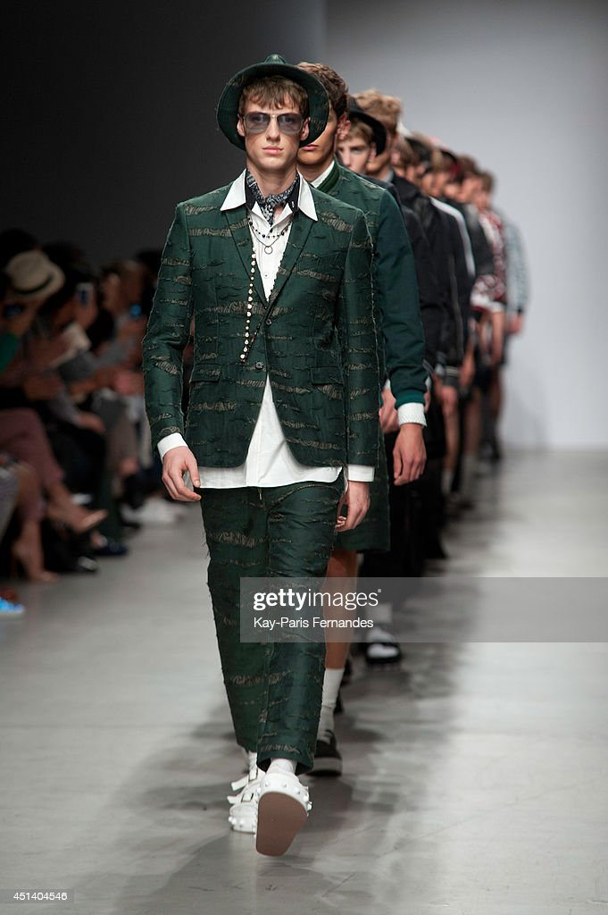 Models walk the runway during the Miharayasuhiro show as part of the Paris Fashion Week Menswear Spring/Summer 2015 on June 28, 2014 in Paris, France.