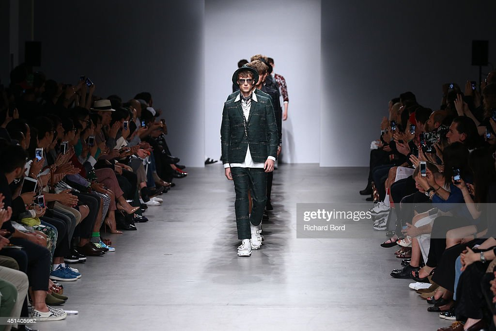 Models walk the runway during the Miharayasuhiro show as part of the Paris Fashion Week Menswear Spring/Summer 2015 at Palais de Tokyo on June 28, 2014 in Paris, France.
