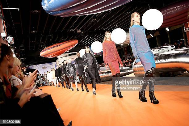 Models walk the runway during the Opening Ceremony Fall 2016 fashion show during New York Fashion Week on February 14 2016 in New York City