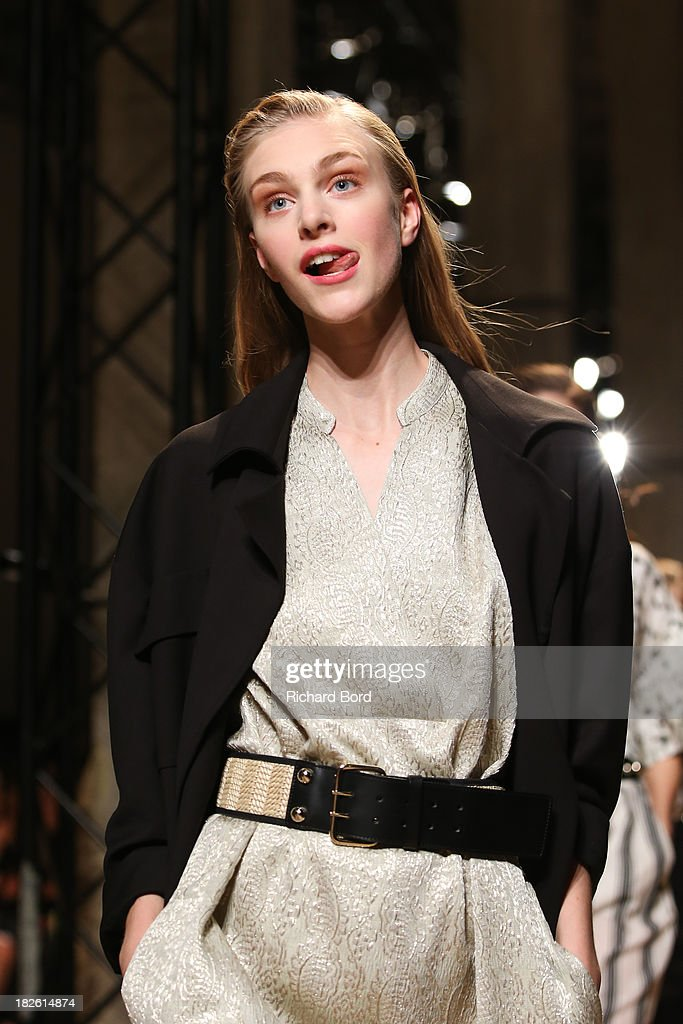Models walk the runway during the Paul & Joe show as part of the Paris Fashion Week Womenswear Spring/Summer 2014 on October 1, 2013 in Paris, France.