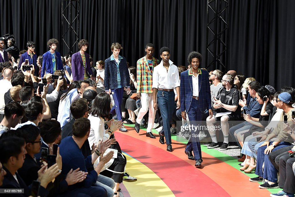 Models walk the runway during the Paul Smith Menswear Spring/Summer 2017 show as part of Paris Fashion Week on June 26, 2016 in Paris, France.