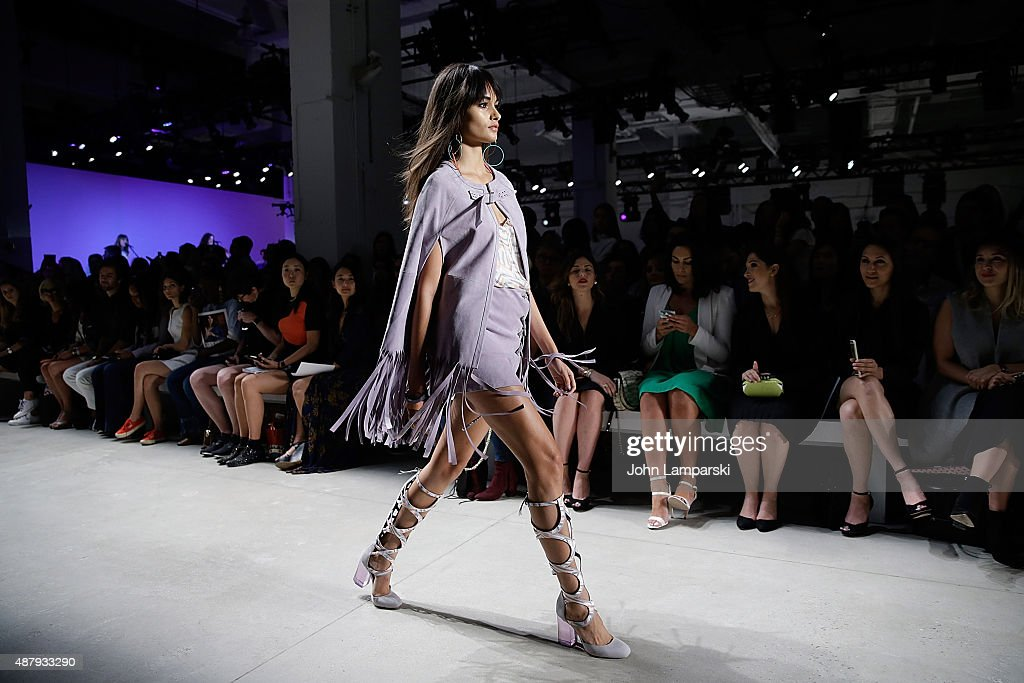 Models walk the runway during the Rebecca Minkoff during Spring 2016 New York Fashion Week: The Shows at the Gallery, Skylight at Clarkson Sq on September 12, 2015 in New York City.