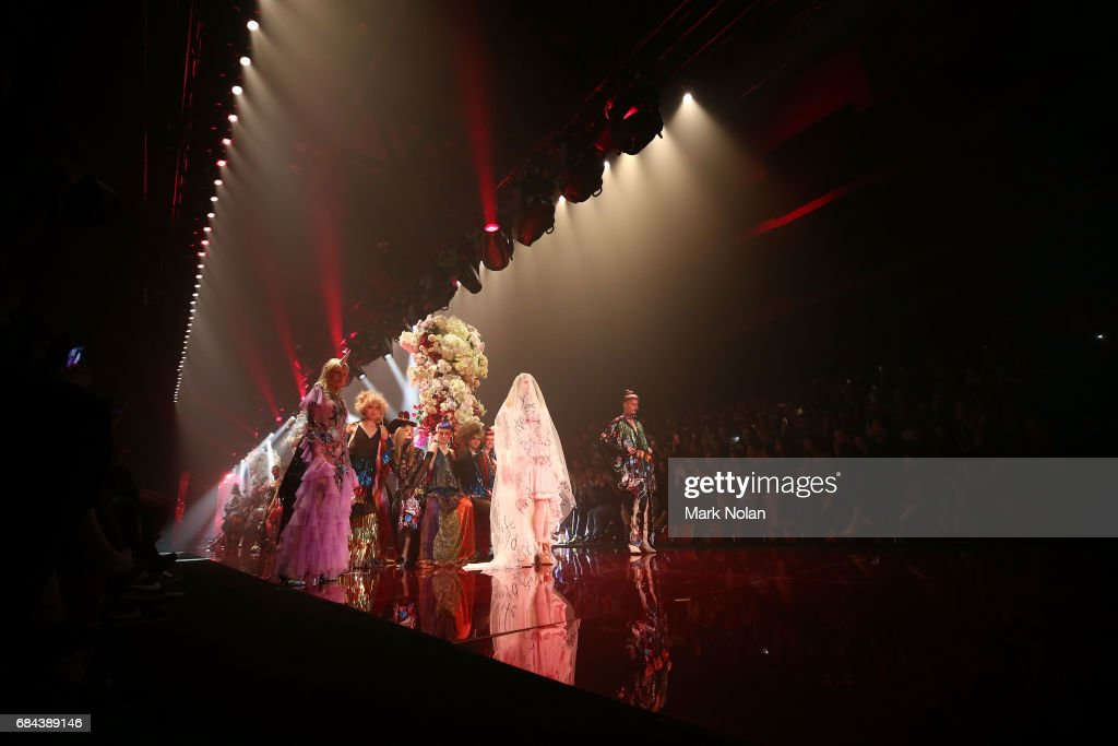 Models walk the runway during the Romance Was Born show at Mercedes-Benz Fashion Week Resort 18 Collections at Carriageworks on May 18, 2017 in Sydney, Australia.