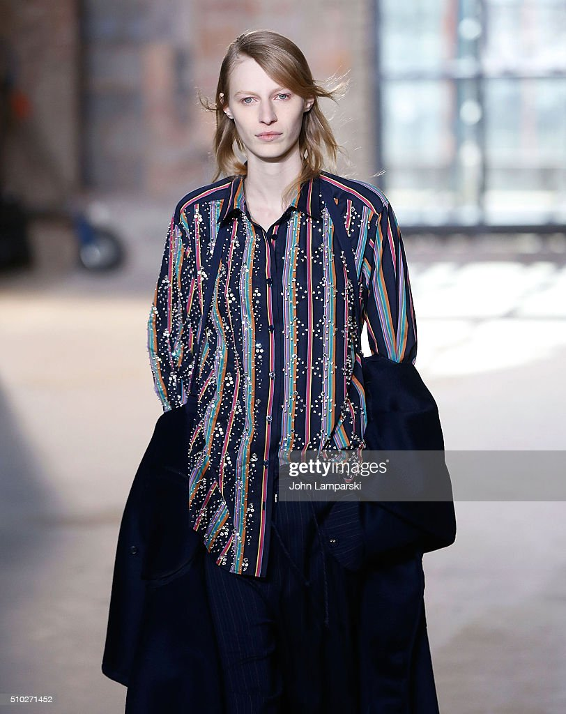 Models walk the runway during the Sies Marjan Fall 2016 New York Fashion Week at Ralph Walker Tribeca on February 14, 2016 in New York City.