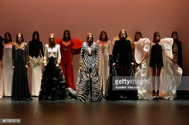 Models walk the runway during the Stephane Rolland Haute Couture Fall/Winter 20172018 show as part of Haute Couture Paris Fashion Week on July 4 2017...