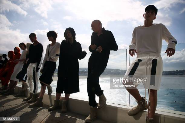 Models walk the runway during the Ten Pieces show at MercedesBenz Fashion Week Resort 18 Collections at Icebergs Dining Room and Bar on May 18 2017...