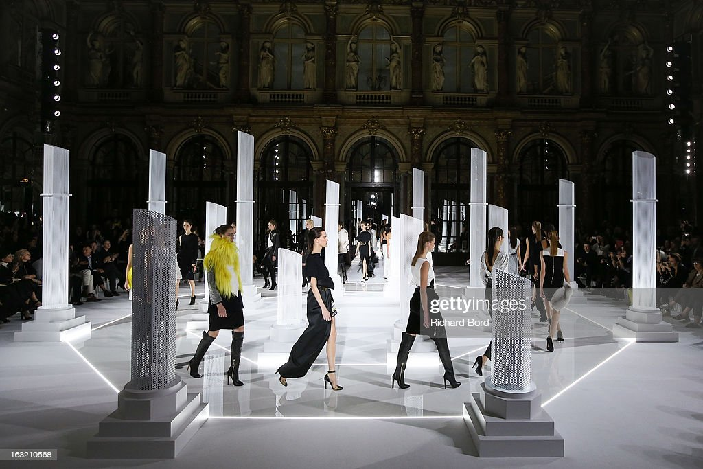 Models walk the runway during the Vionnet Fall/Winter 2013 Ready-to-Wear show as part of Paris Fashion Week at Intercontinental Paris Le Grand Hotel on March 6, 2013 in Paris, France.