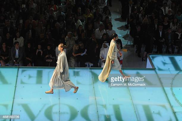 Models walk the runway during the Vogue Fashion Dubai Experience on October 30 2014 in Dubai United Arab Emirates