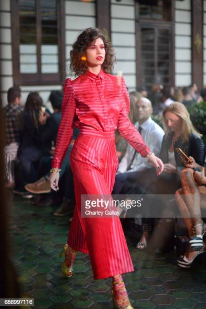 Models walk the runway during the Wolk Morais Collection 5 Fashion Show at Yamashiro on May 22 2017 in Los Angeles California