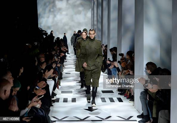 Models walk the runway during the Y3 Menswear Fall/Winter 20152016 show as part of Paris Fashion Week on January 25 2015 in Paris France