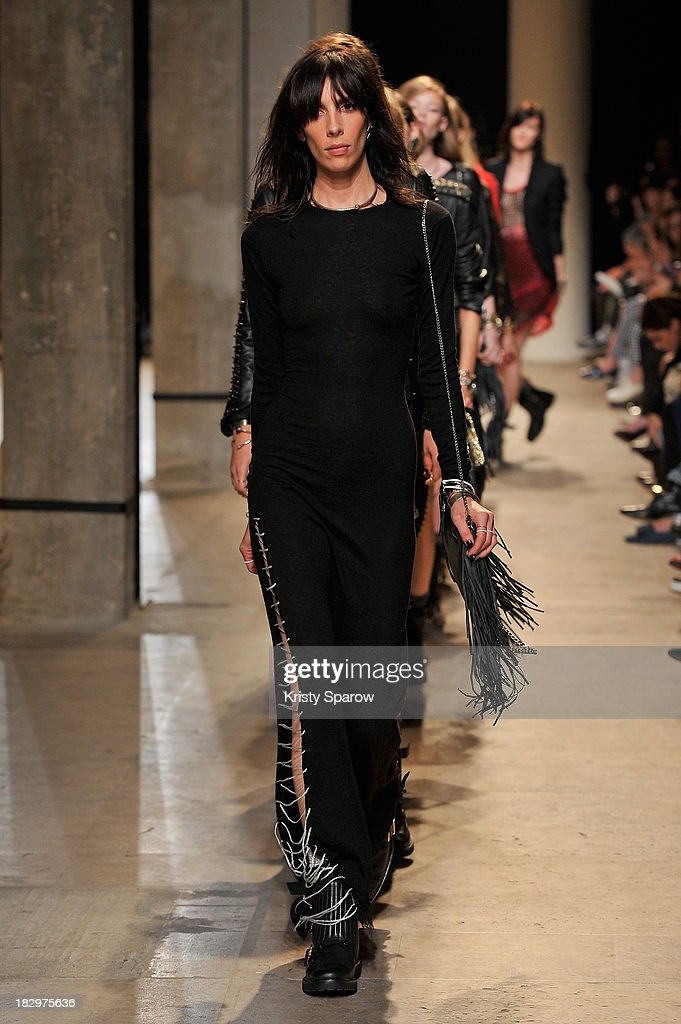 Models walk the runway during the Zadig & Voltaire show as part of Paris Fashion Week Womenswear Spring/Summer 2014 on October 2, 2013 in Paris, France.