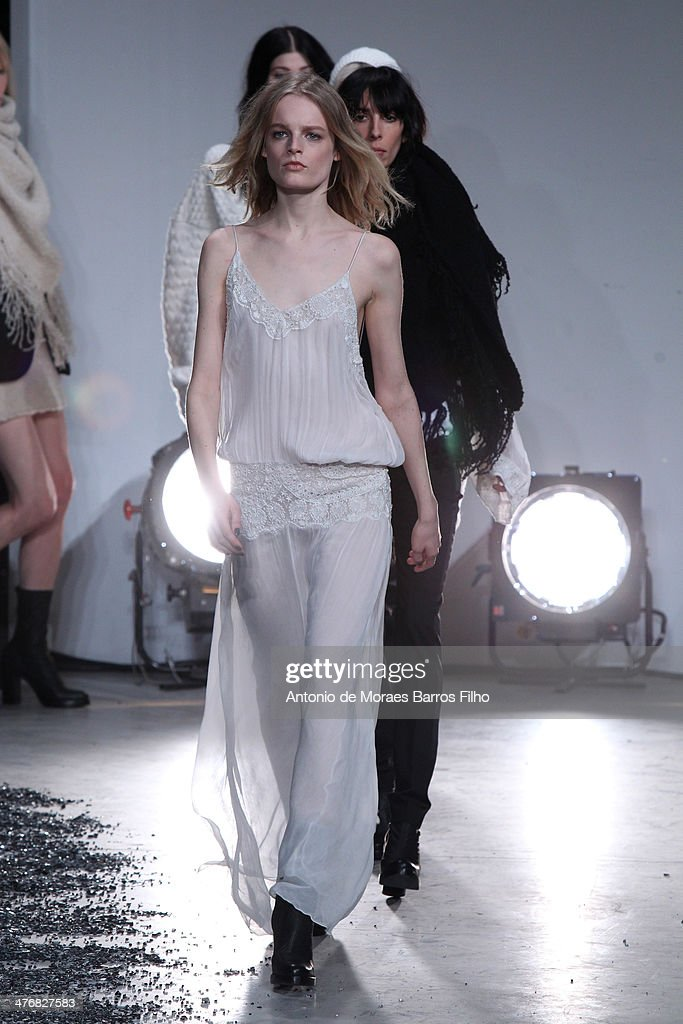 Models walk the runway during the Zadig & Voltaire show as part of the Paris Fashion Week Womenswear Fall/Winter 2014-2015 on March 5, 2014 in Paris, France.