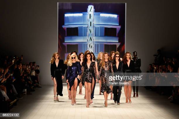 Models walk the runway during the ZHIVAGO show at MercedesBenz Fashion Week Resort 18 Collections at Carriageworks on May 15 2017 in Sydney Australia