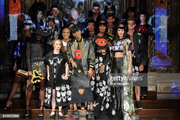 Models walk the runway for Dexter Simmons Fashion Show at Art Hearts Fashion SS/18 at The Angel Orensanz Foundation on September 7 2017 in New York...
