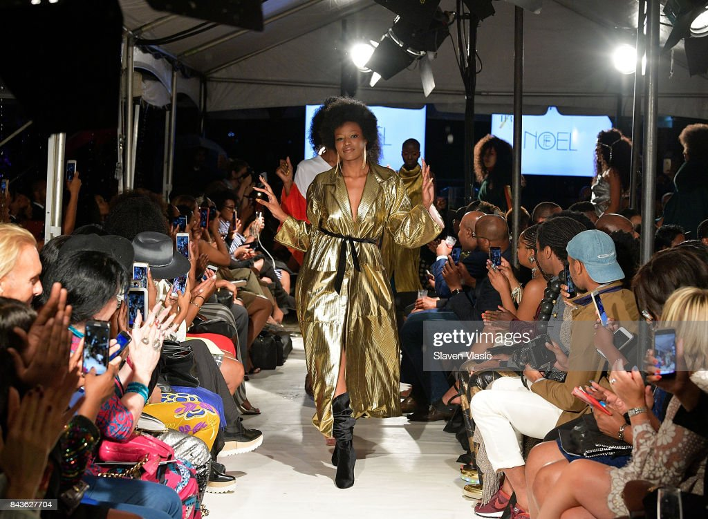 models-walk-the-runway-for-fe-noel-fashion-show-a-part-of-harlems-picture-id843627704