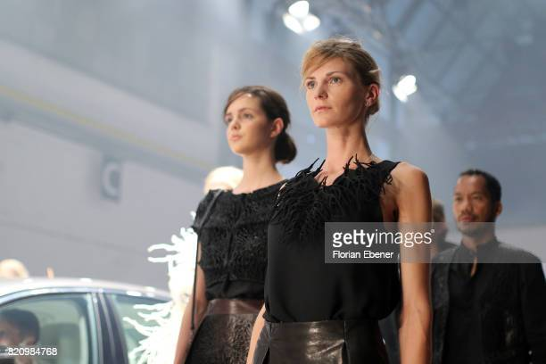Models walk the runway for 'Julia Koerner' at the 3D Fashion Presented By Lexus/Voxelworld show during Platform Fashion July 2017 at Areal Boehler on...