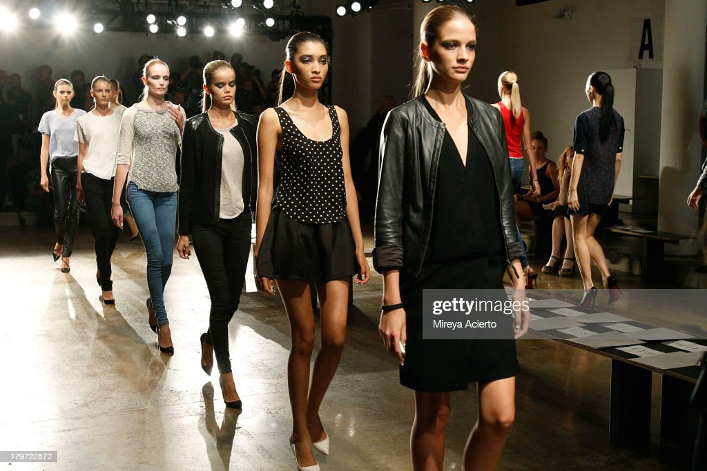 Models walk the runway for rehearsal at the Cushnie Et Ochs fashion show during MADE Fashion Week Spring 2014 at Milk Studios on September 6, 2013 in New York City.