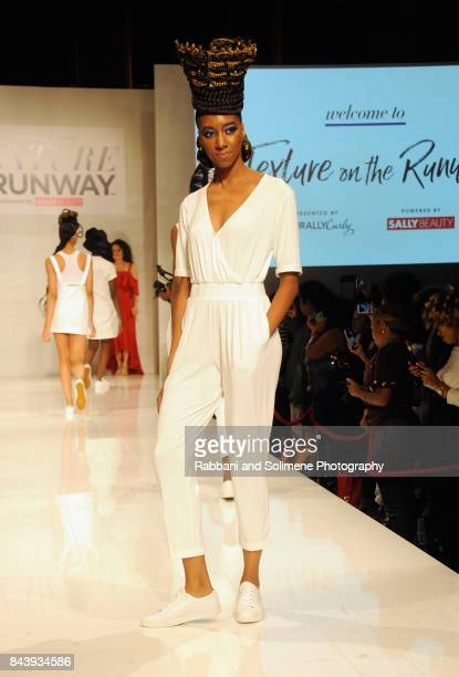 Models walk the runway for Shea Moisture during Texture On The Runway presented by NaturallyCurly powered By Sally Beauty at Gotham Hall on September...