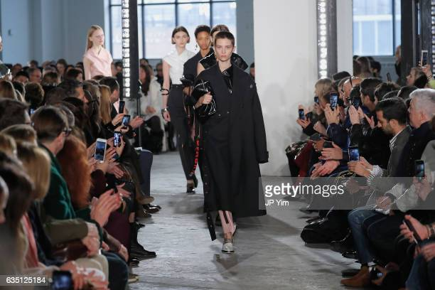 Models walk the runway for the Proenza Schouler collection during New York Fashion Week The Shows on February 13 2017 in New York City