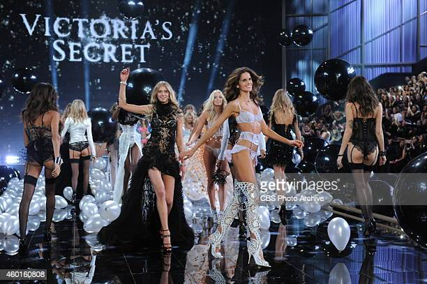 LONDON DECEMBER 2 Models walk the runway for THE VICTORIA'S SECRET FASHION SHOW on Tuesday Dec 2 2014 The show is scheduled to air Tuesday Dec 9 1000...