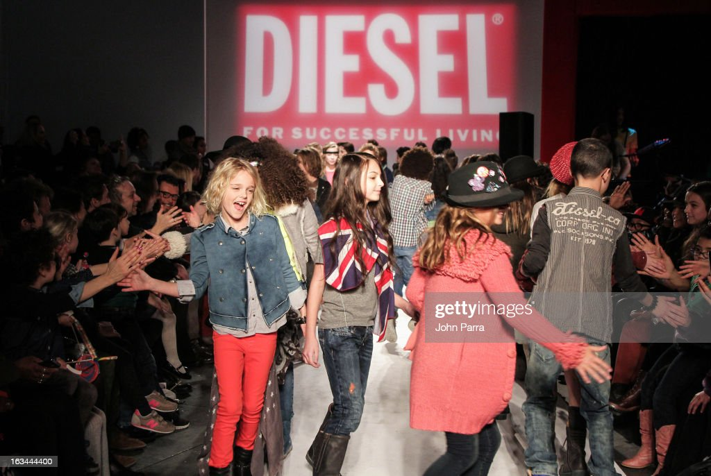 Models walk the runway in the Diesel Kids fashion show during 2013 petitePARADE Kids Fashion Week at Industria Superstudio on March 9, 2013 in New York City.