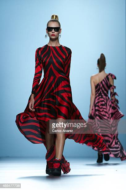 Models walk the runway in the Maria Escote fashion show during the Mercedes Benz Fashion Week Madrid Spring/Summer 2015 at Ifema on September 15 2014...